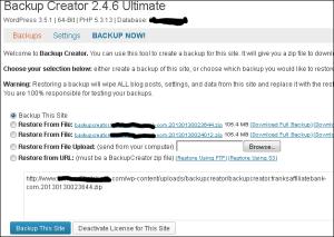 Backup Creator start scherm 3